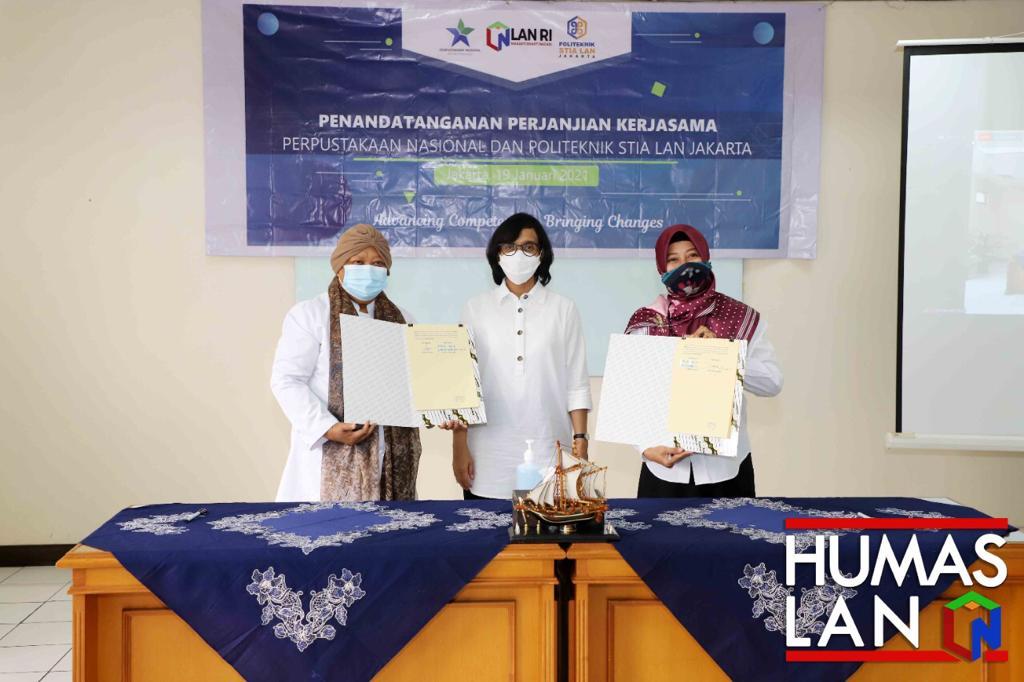 Tingkatkan Literasi ASN, Dosen dan Mahasiswa, Politeknik STIA LAN Jakarta Lakukan Kerjasama Dengan Perpusnas RI