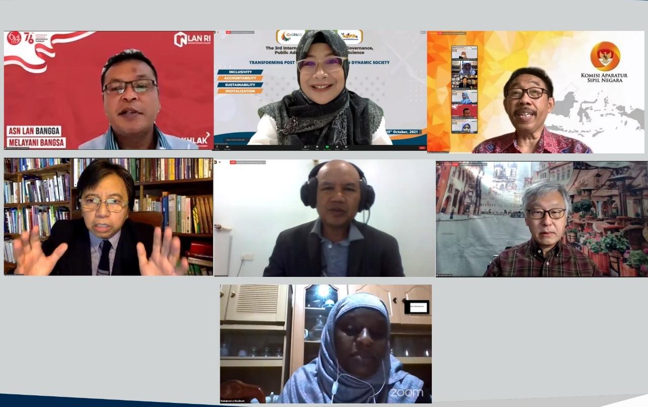 Seminar Internasional ICoGPASS ke-3 : Sumbangan Pemikiran untuk Mendorong Kapasitas dan Inovasi Pemerintah Dalam Rangka Peningkatkan Pelayanan Masyarakat Pasca Pandemi Covid-19